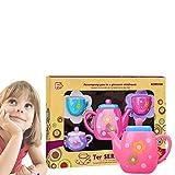 BeesClover Kinder Klassisches Spielzeug zarte Punkte Teekanne Set Kinder Küche Lernspielzeug Spielhaus Spielzeug