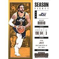 2017–18Dépasse Panini Season Ticket # 64Ricky Rubio Utah Jazz Basketball carte