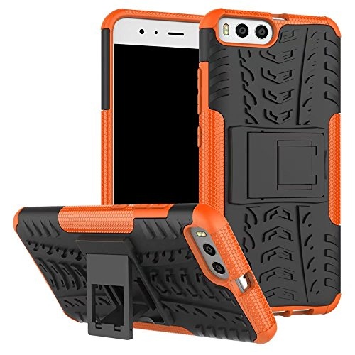 YHUISEN Xiaomi Mi6 Case, Hyun Pattern Dual Layer Hybrid Armor Kickstand 2 In 1 Shockproof Gehäuse Cover für Xiaomi Mi6 ( Color : Red ) Orange