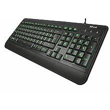 Trust Elight Illuminated Keyboard DE Clavier USB QWERTZ Allemand Noir - Claviers (Standard, avec Fil, USB, QWERTZ, LED, Noir)