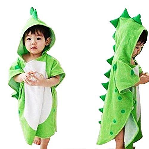 Toalla de baño con capucha para bebés y niños, 100{3bfd470cec3c718bb8deab3b2a01164276780ef5852cf5acfb95d0240de7958f} algodón prémium, para playa o piscina, poncho unisex, de JYSP Dinosaur Talla:60 * 120 cm/23.6 * 47.2 inch (Dinosaur, 60 * 120 cm/23.6 * 47.2 inch)