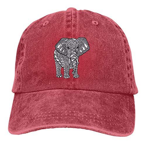 Cowboy Hat India Treasure Elephant Denim Skull Cap Baseball Cowgirl Sport Hats Men Women Cowgirl Cadet Cap