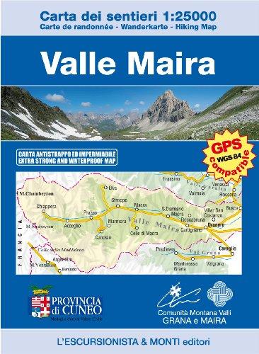 L'Escursionista Piedmont - Wanderkarte Valle Maira / Mairatal Italien topographische Landkarte 1:25.000 GPS-WGS84 compatible - Reißfest und Wetterfest - May 2014