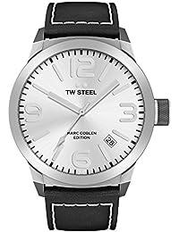 TW Steel Marc Coblen Edition mit Lederband 42 MM Silver/Black TWMC3