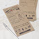 Ginger Ray Advice For The Bride & Groom Wedding Entertainment Cards X 10 - Vintage Affair