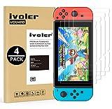 iVoler [Lot de 4] Verre Trempé pour Nintendo Switch [Garantie à Vie], Film Protection en Verre trempé écran Protecteur pour Nintendo Switch