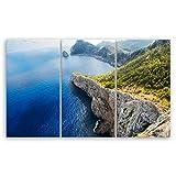 GE crea® alta calidad Lienzo-Mallorca veces Anders-España-2109, Marfil, 165 x 100 cm 3 tlg.