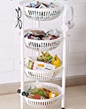 #2: GosFrid 4 layer round Hampers storage rack Also use in Home and Office/Food, Kitchen accessory Bowl Storage/4 Tier Storage Stand Shelf, Vegetable Fruit Holder