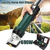 Tondeuses électriques professionnelles pour le toilettage de chevaux, 690W & 6 vitesses ciseaux de cheveux de cheval, pour grands animaux à poil épais et races à poil long Tondeuse de toilettage