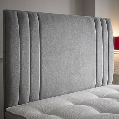 """BEAUTIFUL SIDE BAR HEADBOARD IN CHENILLE FABRIC IN 30"""" IN ALL COLOURS (5ft king size, cream)"""