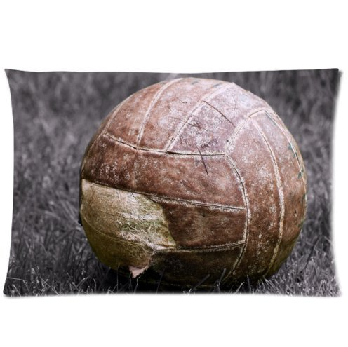 Mina-Shop Brown Ball Close-up Sports Two-Side Polyester Pillowcase 20x30 Inch