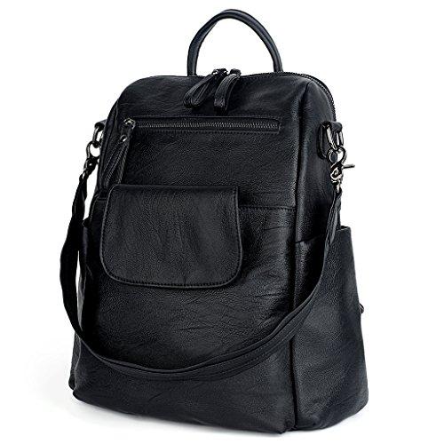 UTO Women Backpack 3 way PU Leather Ladies Girls Rucksack Shoulder Travel  School Bags From UTO 0c1feb181f