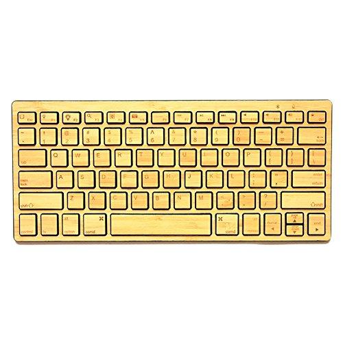 bioxo madera inalámbrico Bluetooth cuadro teclado para Notebook, IPad... Natural bambú