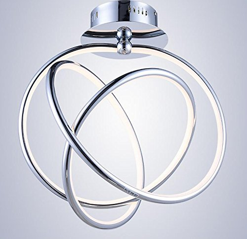 Suspensions En forme de plafond de LED Creative Acrylic restaurant moderne éclairage de chambre minimaliste, Warm white
