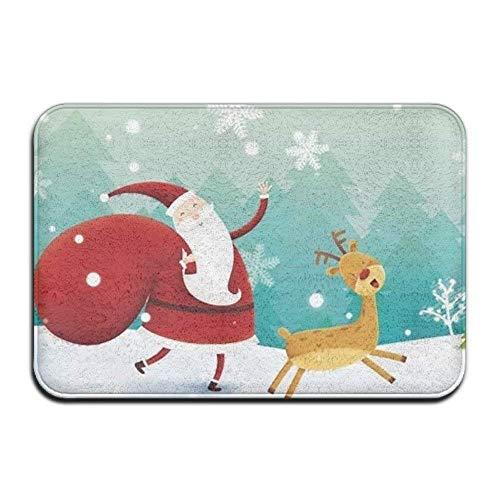 Natürliche Thermal-unterwäsche (Uosliks Merry Christmas Snowman Thermal Transfer Welcome Mat, Non-Slip Doorway Mat, Size 40 X 60 cm)