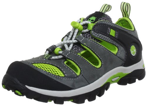 Timberland Hypertrail FTK_Hypertrail Fisherman 4072R, Jungen Sandalen, Grau (Dark Grey with Green), EU 32 (US 13.5)
