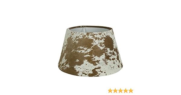 Kuhfell Leder passend f/ür alle Lampenf/ü/ße mit E27 Fassung Lampenschirm Stahl Mars /& More schwarz//wei/ß /Ø 20 cm