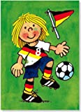 Fensterbild * Fussball-Mädchen* als Postkarte von LUTZ MAUDER // Fensterbilder Aufkleber Sticker Geschenk Bild Karte Fussball Mädchen Girl