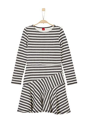 s.Oliver RED LABEL Junior Mädchen Ausgestelltes Sweatkleid black stripes 176.REG