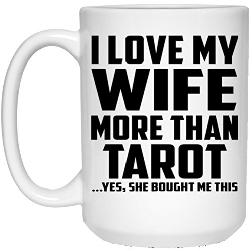 Diseño de Muñeco de sify Taza de café, ich liebe Pregunta de más de Tarot. Sí, Sie Mir Este gekauft–15oz taza de café, cerámica Taza, mejor regalo para él Muñeco, Hombres, hombre mujer