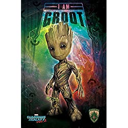 Guardians of the Galaxy 2 - I Am Groot - Space Film Poster Plakat Druck - Größe 61x91,5 cm + 1 Ü-Poster der Grösse 61x91,5cm