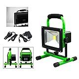 VINGO®30W LED Strahler IP65 Grün Arbeitsleuchte Handlamp Baustrahler Akku Fluter Handlampe Kaltweiß