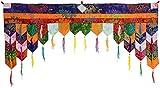 BUDDHAFIGUREN/Billy Held Buddhistischer Türbehang Chukor 99 cm x 40 cm Tibet Brokat Wandbehang