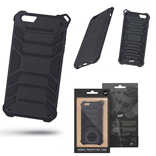 Unbekannt OUTDOOR PROTECKTOR Beeyo Armor Panzer Für Apple iPhone 7 4,7/Apple iPhone 8 4,7 Hülle Etui Flip Back Case Cover TPU handy Tasche Schutzhülle Silikonhülle (schwarz/black)