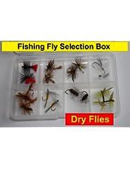 Pesca moscas secas selección caja de moscas 16