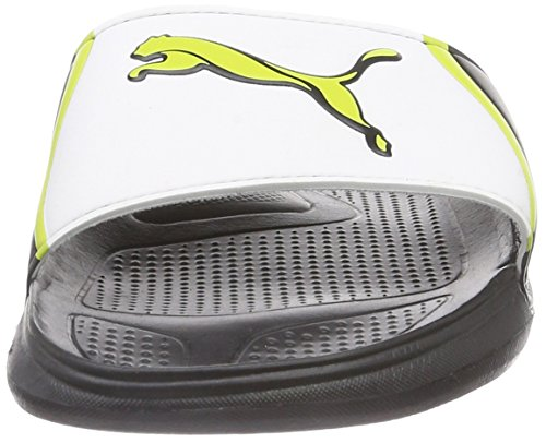 Puma Cat Slide TS Unisex-Erwachsene Dusch- & Badeschuhe Schwarz (black-white-sulphur spring 05)