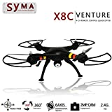 SYMA X8C 2.4G 4CH 2.0MP HD Camera 6-Axis Gyro RTF RC Quadcopter with Extra 2pcs Batteries