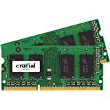Crucial 16Go Kit (8Gox2) DDR3 1333 MT/s  (PC3-10600) SODIMM 204-Pin Memory for Mac - CT2C8G3S1339MCEU