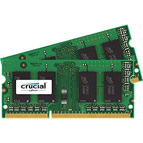 Crucial - Kit de memoria para Mac (16 GB, 2x 8 GB DDR3, PC3-10600, 1333 MT/s, SODIMM, 204-Pin)