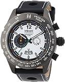 Nautec No Limit Herren-Armbanduhr XL Indianapolis Chronograph Quarz Leder IP QZ/LTGMBKWH