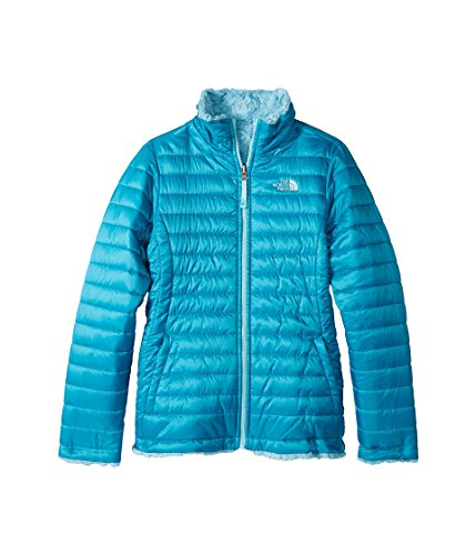 The North Face Girl's Reversible Mossbud Swirl Jacket - Algiers Blue 2XS 5 (Little kids) The North Face Reversible Jacket