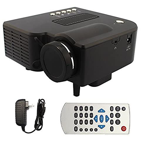 Mini HD LED Projector Support HDMI USB SD VGA AV TV Input Video Projector 300: 1 Contrast Ratio with LCD TFT 320 x 240 Resolution 400 Lumen