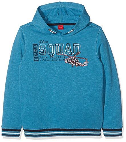 s.Oliver Jungen Sweatshirt 63.709.41.3202, Türkis (Turquoise 6450), 128 (Herstellergröße: 128/134)