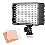 Selens 168 Dimmbare Ultra High Power Panel LED Video Licht Videobeleuchtung Videoleuchte mit Bi-color Filter, Panasonic,Sony, Samsung and Olympus Digital SLR Cameras Camcorder