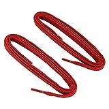 REMA 1 Paar Schnürsenkel - flach - ca. 7,0 mm breit in verschiedenen Farben und Längen (90 cm, Rot)