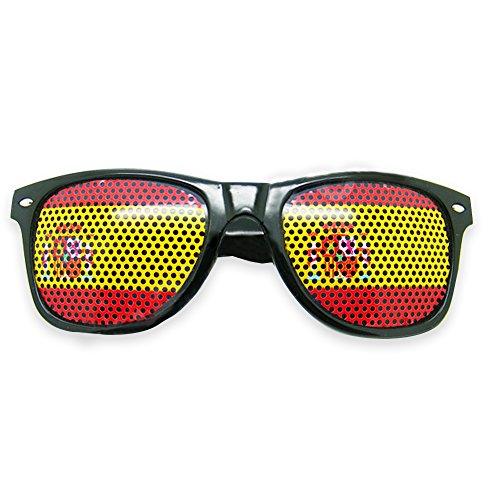 Ndier Fußballfans Sonnenbrillen in Nationalflagge Stil zur WM 2018 Weltmeisterschaft, Fanartikel Brillen(Spanien)