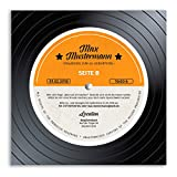 (30 x) Einladungskarten Geburtstag Schallplatte Musik Scheibe Vinyl LP Einladungen