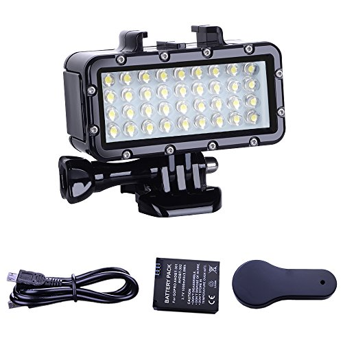 Suptig impermeabile Diving luce ad alta potenza LED video fill luce notturna luce immersione impermeabile 44,8 m (45 m) per GoPro Hero 6/5/5S/4/4S/3/2/SJCAM/Yi Action Camera