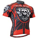 Fixgear Herren Skull Cycling Radtrikot Red Red