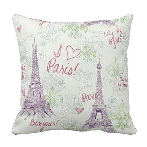 Jxrodekz Home Decorative Cushion Cover A Kiss of Paris Dekokissenbezug 18