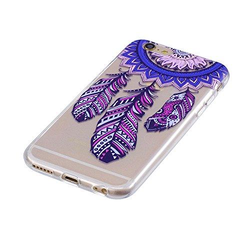 Cover per iPhone 6 / iPhone 6s Silicone Case , YIGA Moda Datura Cristallo Trasparente Cover Cassa Silicone Morbido TPU Case Caso Shell Protettiva Custodia per Apple iPhone 6 / iPhone 6s (4.7) MM21