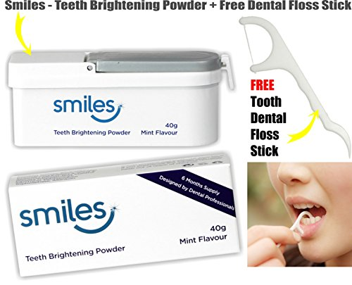 smiles-teeth-brightening-whitening-powder-40g-mint-flavour-6-months-supply-free-dental-floss-stick