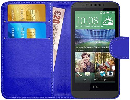 G-Shield Hülle für HTC Desire 510 Klapphülle mit Kartenfach - Blau