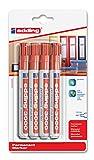 edding 4-3300-4-1002 Permanentmarker, nachfüllbar, 1-5 mm, rot