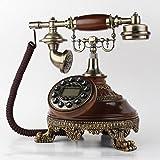 Max Home@ Europeo teléfono antiguo retro viejo de madera sólida pastoral Teléfono de la casa Plano de la sala Teléphono