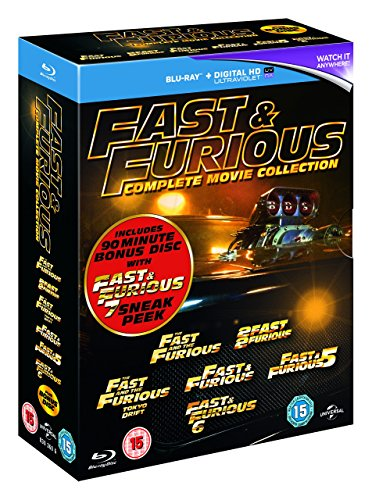 fast and furious 1 7 blu ray Fast & Furious 1-6 (includes sneak peek of Fast & Furious 7) [Blu-ray] [2015]